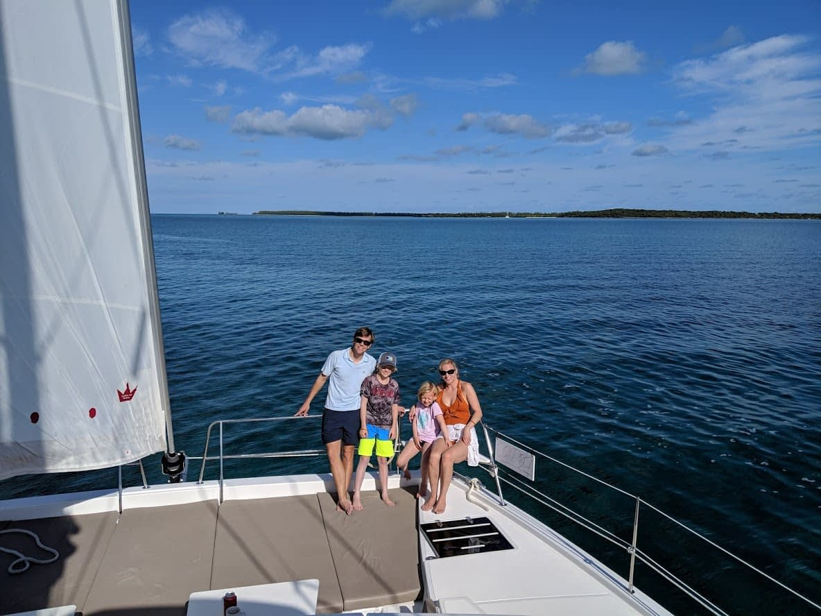 The Fitzgerald family enjoying a bareboat charter in the Bahamas