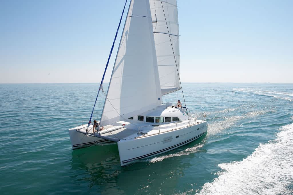 bareboat charters are offered on the Lagoon 380 catamaran in BVI and other worldwide locations