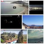 A collage of Mediterranean webcam images
