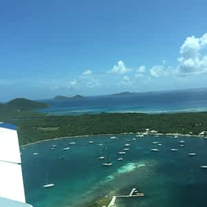 The view of BVI from plane