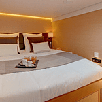 Lagoon 620 all-inclusive yacht charter guest cabin